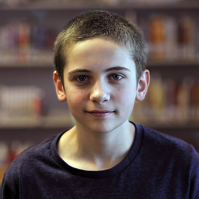 "Anthony Troiano, 12, a seventh-grade student of Karen MacDonald, tells why he likes his teacher. ""She always makes everything so you can know what's going on."""