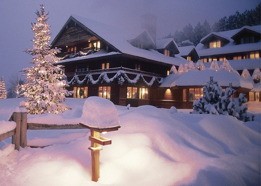 "The Trapp Family Lodge in Stowe, Vt., is lit up for the Christmas holidays. The von Trapp family members at the vacation lodge watched a televised revival of ""The Sound of Music"" on Dec. 5, and though the show was good publicity, they questioned the casting."