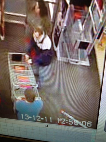 Toy theft: The man seen in this store security camera photo is being sought after police said he stole toys worth more than $450 from the Kmart in Waterville on Wednesday.