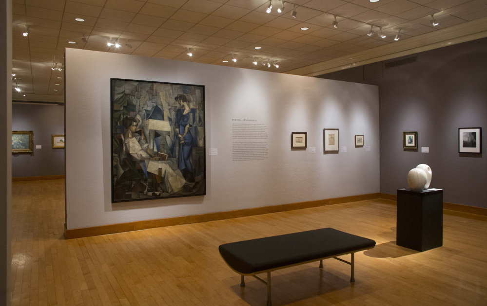 Two of John Marin's sketches are currently exhibited, center right, in the Jackson T. Stephens Gallery of the Arkansas Arts Center in Little Rock. Ann Prentice Wagner, the curator who will be interpreting a gift of nearly 300 works by the artist, studied Marin as part of her dissertation.