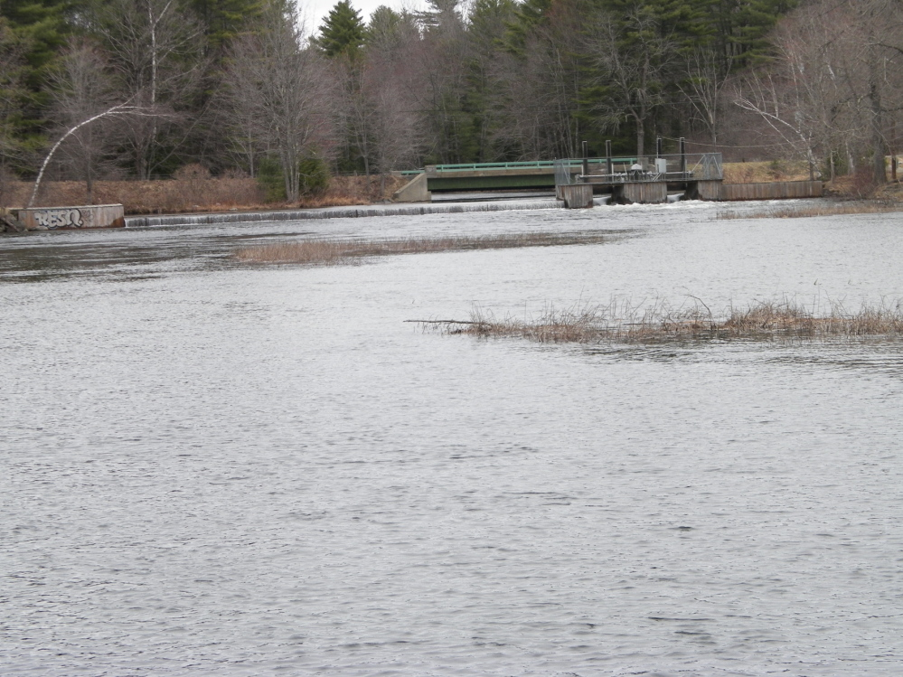 Rescue Site: Long Pond Storage Dam on Wings Mills Road, where a young boy was pulled from the stream Monday morning.