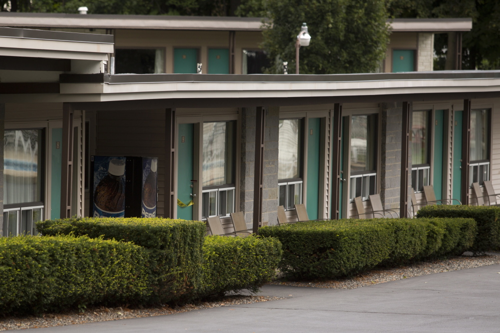 BIDDEFORD, ME - SEPTEMBER 10: The Sleepy Hollow motel in Biddeford was closed Wednesday, September 10, 2014, after police recovered two bodies from Room 9 on Tuesday night. (Photo by Gabe Souza/Staff Photographer)