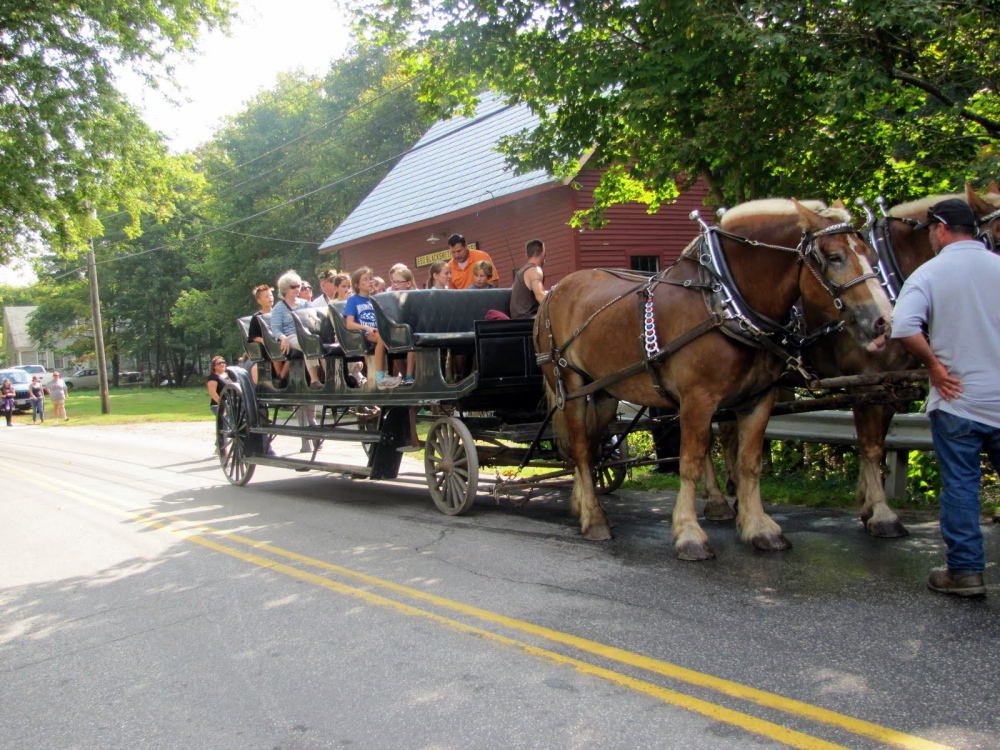 Horse-drawn wagon rides are part of Monmouth AppleFest, which is set for Saturday.