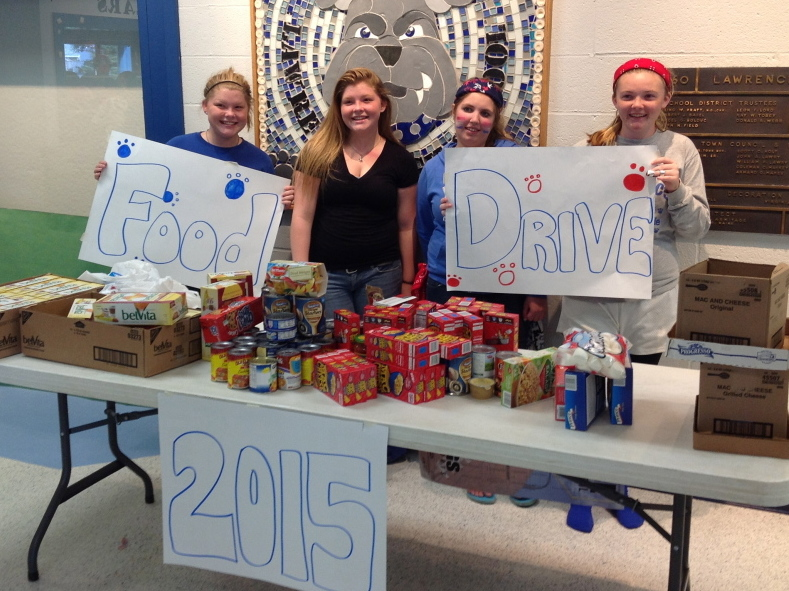 Students from left, are Abigail Blaisdell, Alex Blaisdell, Brittany Marx and Sierra Smedberg.
