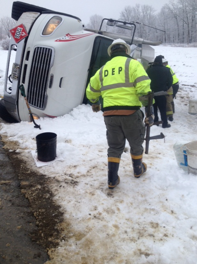 Norridgewock driver escapes injury after 4,000-gallon oil truck