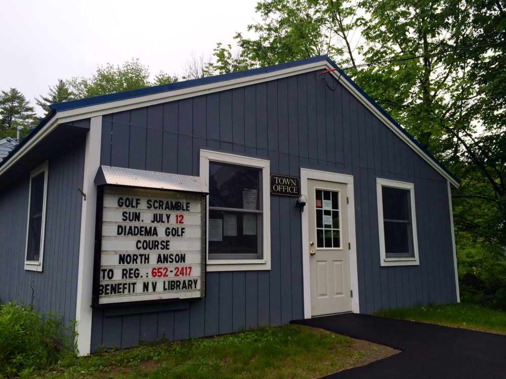 The New Vineyard Town Office on Lake Street is seen last month.