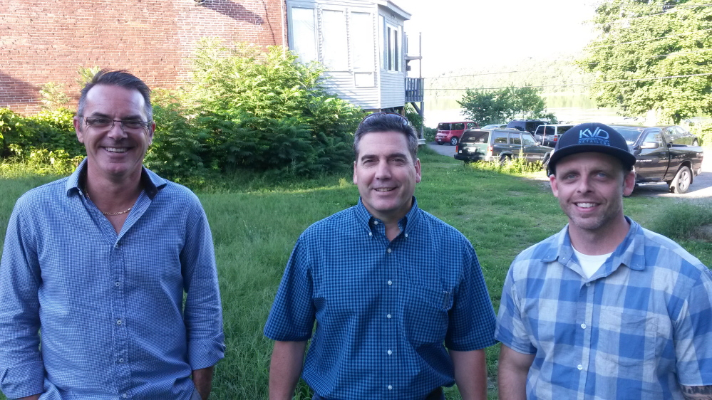 Chris Vallee, Steve LaChance and Larry Hunter, co-owners of The Quarry Tap Room in Hallowell, recently purchased the lot next door to their bar and restaurant.