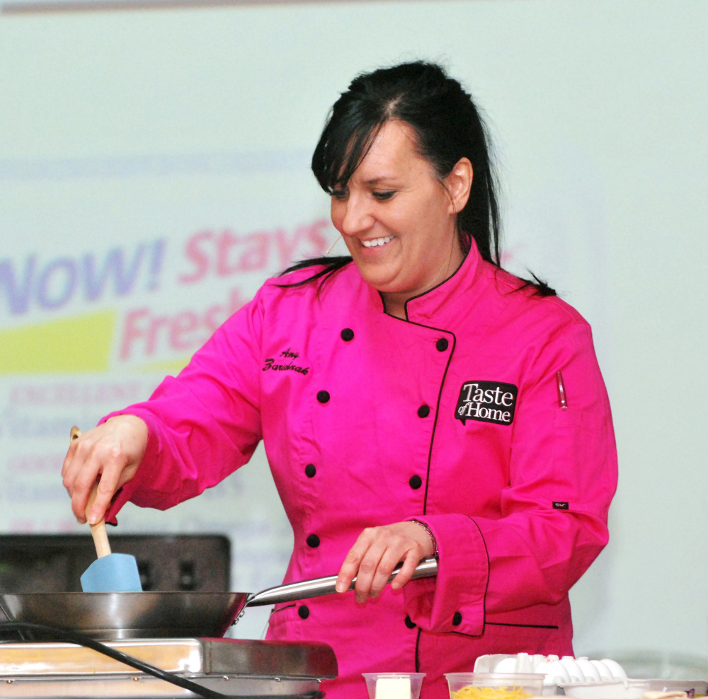 Amy Zarichnak, culinary specialist with the Taste of Home Cooking School, will demonstrate how to make 10 seasonal recipes that take 30 minutes or less at an event set for Saturday at the Augusta Civic Center.