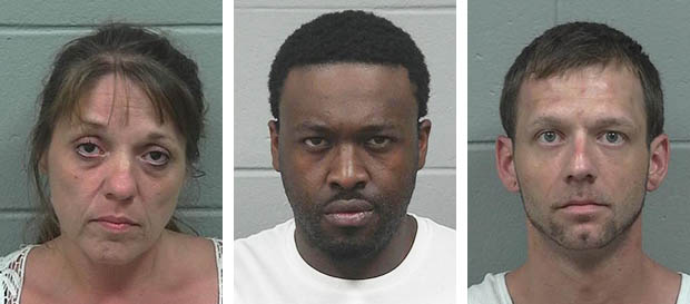 From left, Tina Clavette, Aaron Coker and Joshua Doucette