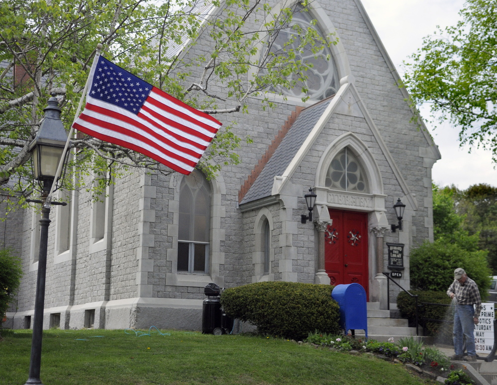 The Hubbard Free Library in Hallowell, shown here in a 2014 file photo.