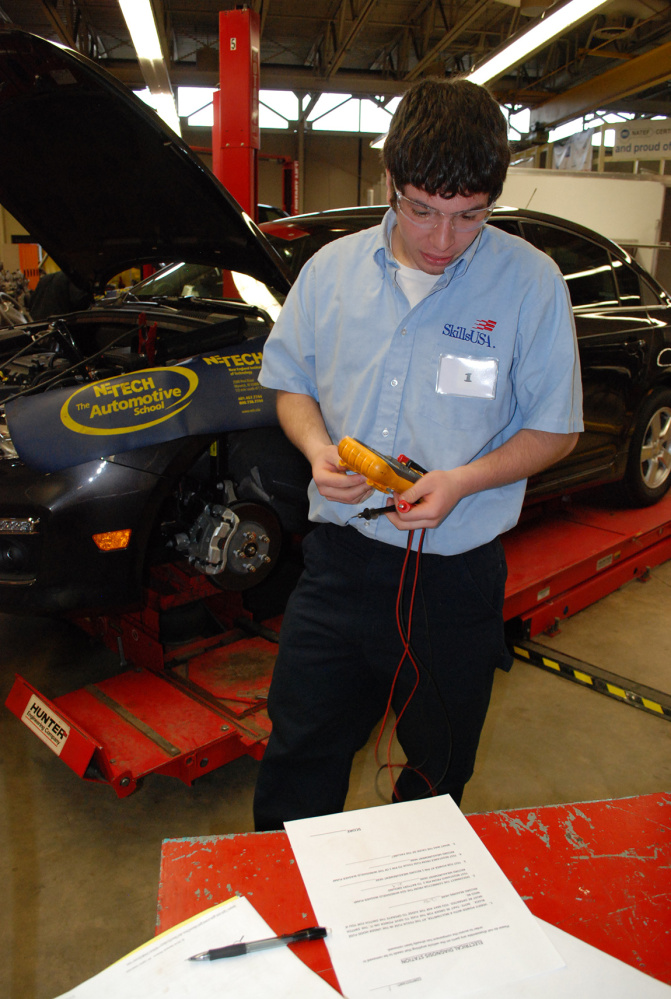 Lawrence High School student Kyle Robinson was named state gold medalist representing Mid-Maine Technical Student in automotive Service Technology at the SkillsUSA Championships held recenlty.