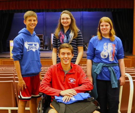 Messalonskee High School in Oakland has announced its September Students of the Month. Owen Concaugh is in front. In back, from left, are Cameron Croft, Rachel Pushard and Elizabeth Hotham.