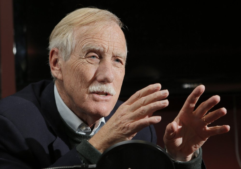 Sen. Angus King says he will work with President Trump, but intends to fight hard on issues where he disagrees.