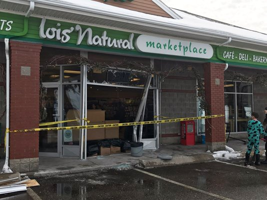 On Saturday, Feb. 18, 2017, a young driver crashed into the storefront of Lois' Natural Marketplace in Scarborough.