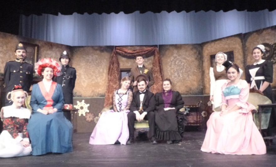 """Contributed photo   The cast of """"Chemical Imbalance a Jekyll and Hyde Tale"""" in front, from left, are Lisa Huard, Susan Melanson, Hannah Comfort, Jon Thompson, Emma Jones and Estephanie Baez. In back, from left, are Kolby Lovett, Elwin Moss, Ty Lecrone, Alexandria Lecrone and Jasmine Liberty."""
