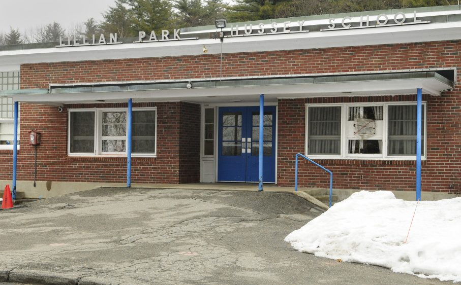 Augusta's school board is expected to consider on Thursday applying for state funding to replace Lillian Park Hussey School in Augusta, shown Tuesday, which was built in 1954.