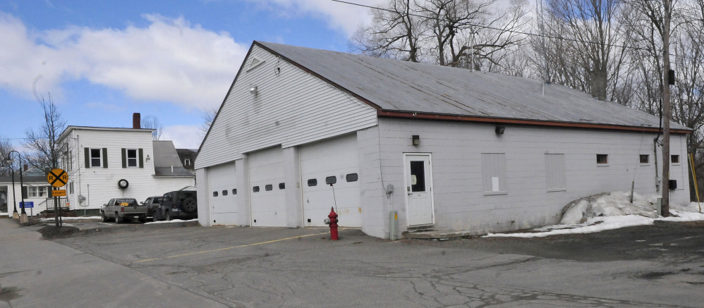 The former Norridgewock Fire Department building on Main Street, seen in March, remains vacant.