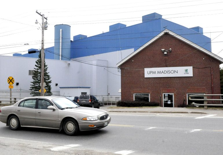 The former Madison Paper Industries mill Wednesday. The mill's equipment and assets, now owned by Somerset Acquisition LLC, are for sale.