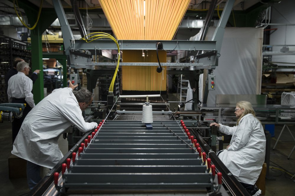 Workers manufacture thermal protection systems for NASA at Bally Ribbon Mills in Bally, Pa., in March U.S. employers pulled back on hiring in May 2017 by adding only 138,000 jobs.