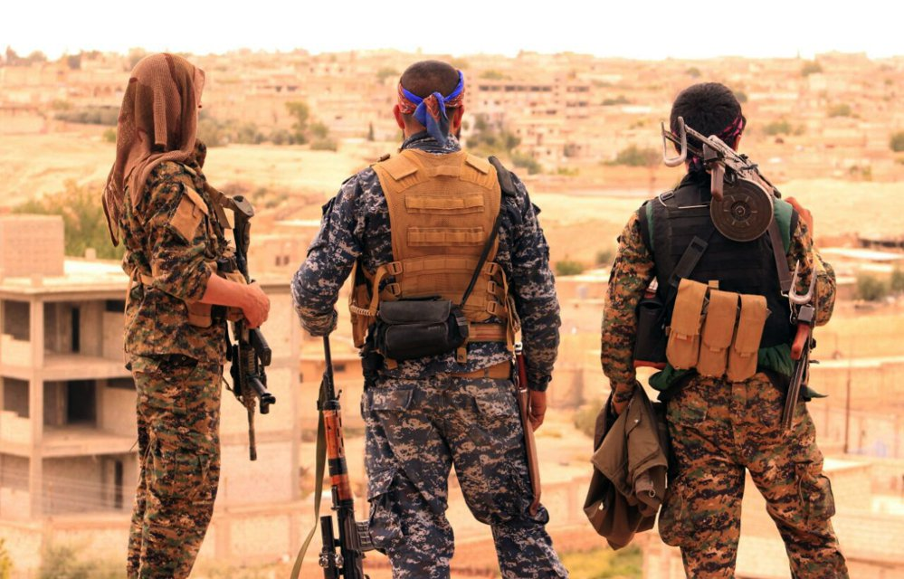 Senior White House officials are pushing the Pentagon to establish outposts in the Syrian desert region to prevent a Syrian or Iranian military presence that would interfere with the U.S. military's ability to break the Islamic State's hold on the Euphrates River valley south of Raqqa and into Iraq.  The wisdom and need for such a strategy  has been a subject of intense debate between the White House and the Pentagon.