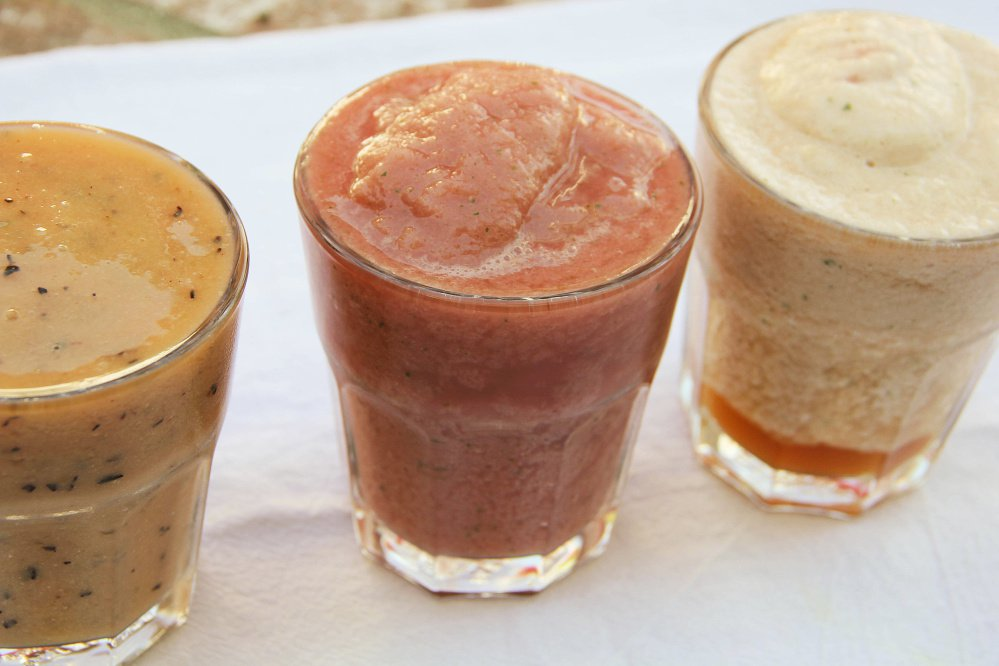Agua fresca is mostly fruit, ice and water.