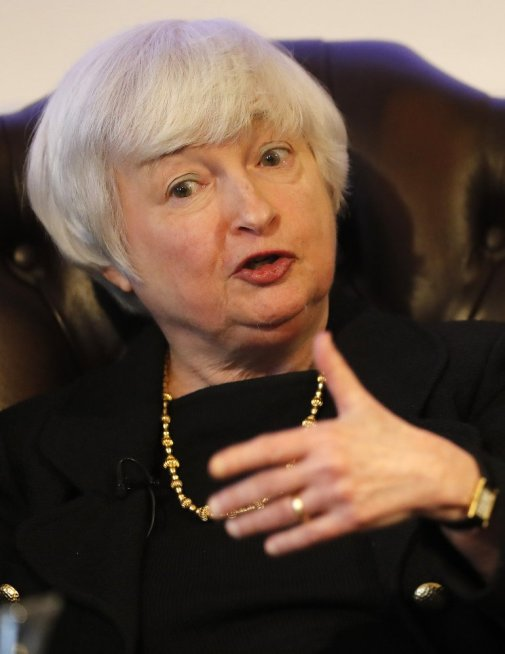 """Fed Chairman Janet Yellen told a group in London that """"we have a strong banking sector that's well-capitalized and has a lot of liquidity."""""""