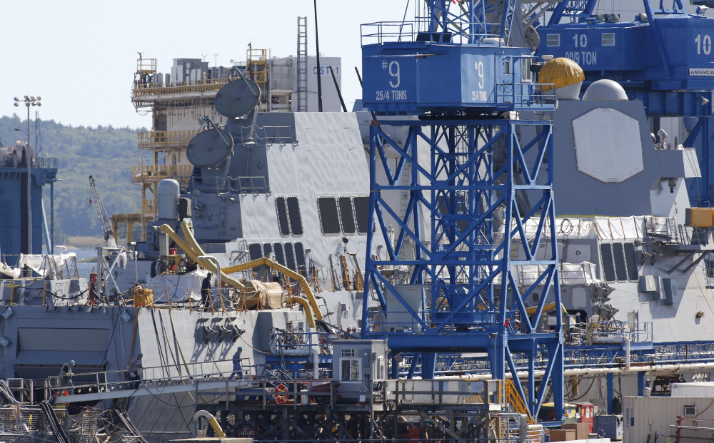 The Navy's decision to award Bath Iron Works just four of 10 contracts to build Arleigh Burke-class DDG 51 guided-missile destroyers is raising concerns for the shipyard.