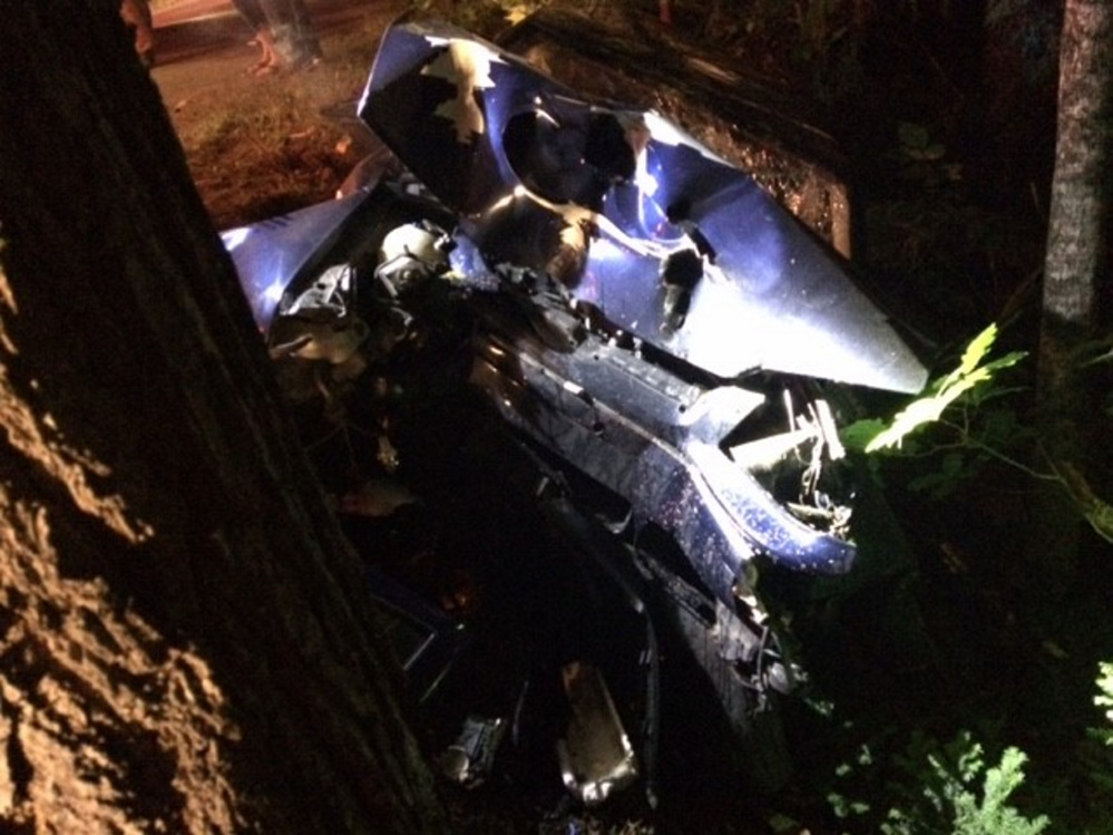 Bingham girl, 17, seriously injured after car crashes into tree in