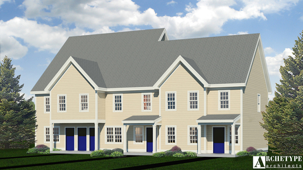 An artist rendering of the type of apartments the Augusta Housing Authority hopes to build on part of the old Statler mill site on the east bank of the Kennebec River.