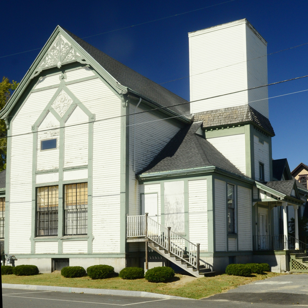 The former Elim Christian Fellowship church, seen Sept. 28 at corner of Oak and State streets in Augusta, has won a Planning Board approval recommendation as the winter site of Farmers' Market at Mill Park.