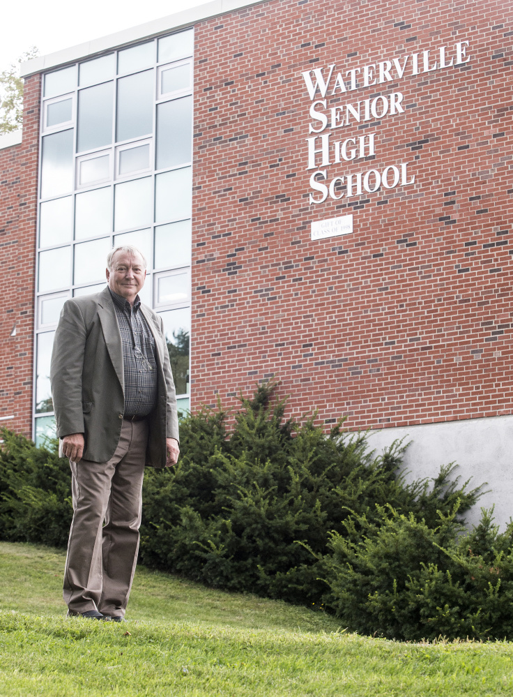 Eric Haley, superintendent of Alternative Organizational Structure 92, poses for a portrait Aug. 31 in front of Waterville Senior High School in Waterville. Haley announced his retirement Friday so he can start receiving his retirement benefits, but he expects to be hired back after 30 days.