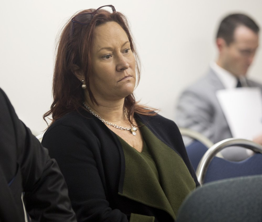 Lisa Scott listens on Nov. 3, 2017, as the state ethics commission deliberates the campaign finance case against the committees behind the York County casino referendum. Scott formed three of the ballot question committees, which were fined.