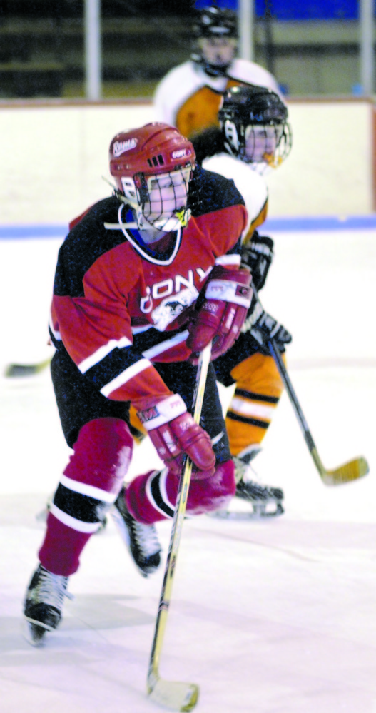 Jessica Leclerc skates for Cony during a 2001 game.