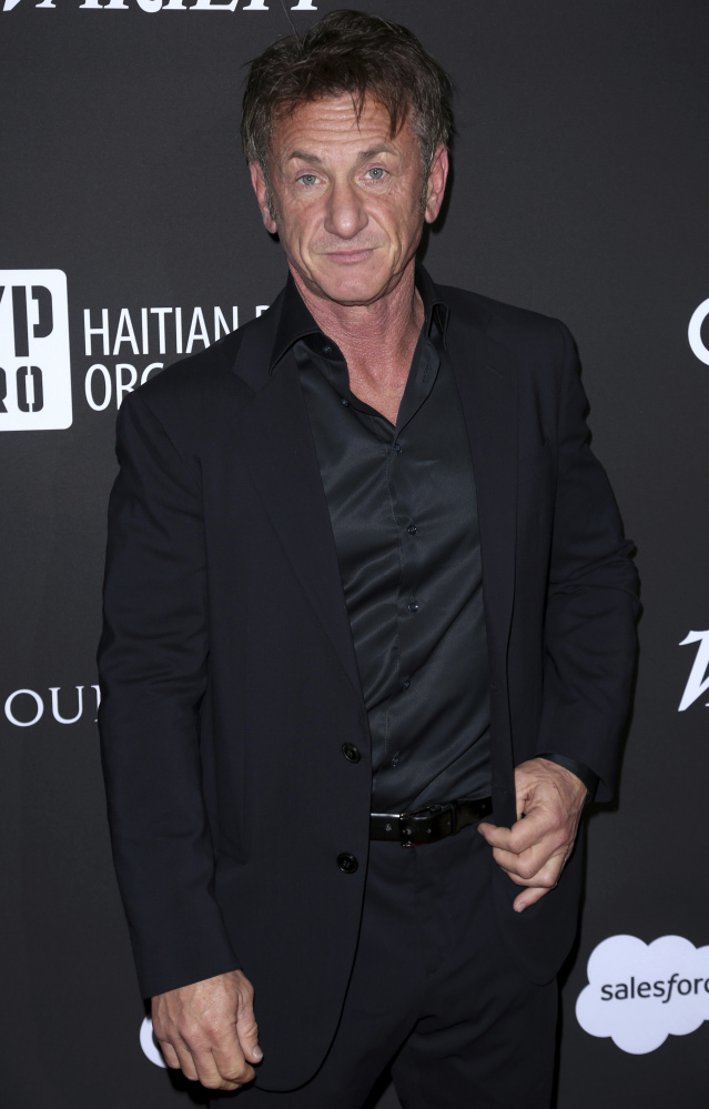 Sean Penn at the J/P Haitian Relief Organization Gala on Saturday in Los Angeles.