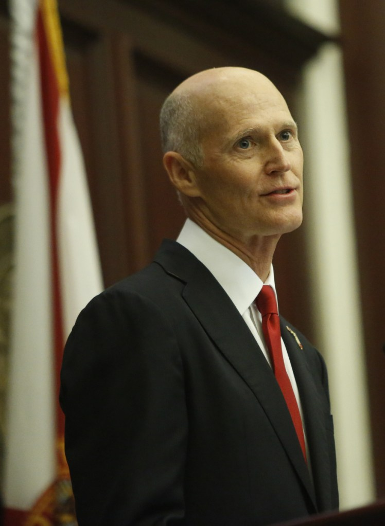 """Gov. Rick Scott said of the administration's change: """"It's a good day for Florida"""""""