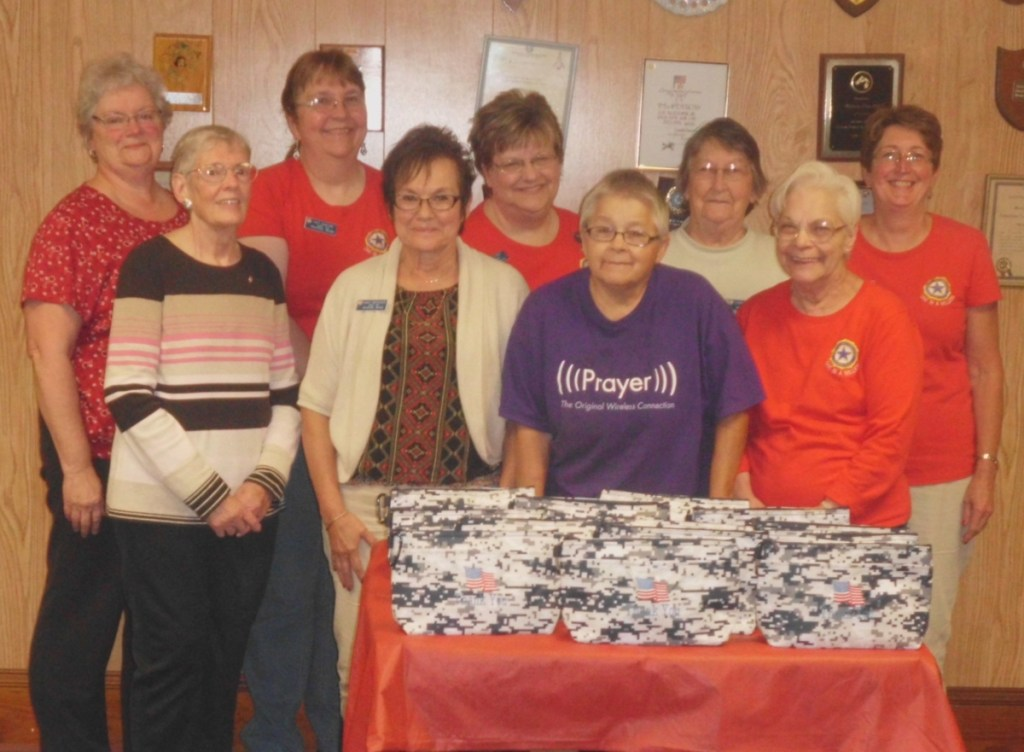 Auxiliary members who worked on the project, in front, from left are Ann Cody, Nancy Misiaszek, Merrilyn Vieira and Betty Dow. In back, from left are Sharon Ziacoma, Pat Santoni, Robin Turek, Lauraine Mercier and Harriet Bryant.