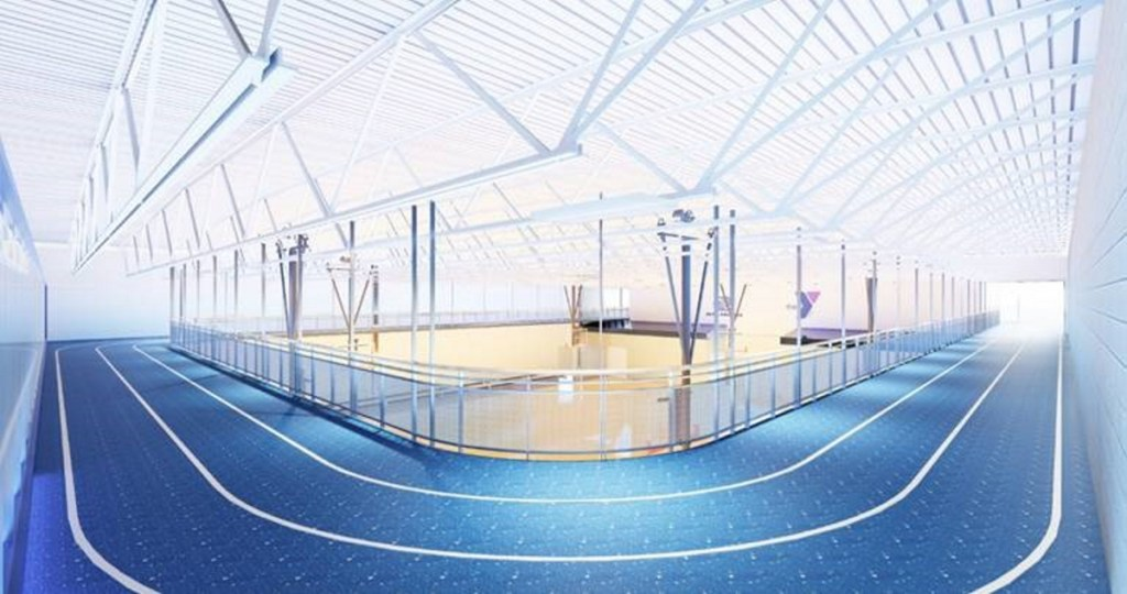 Planned Alfond Youth Center indoor track