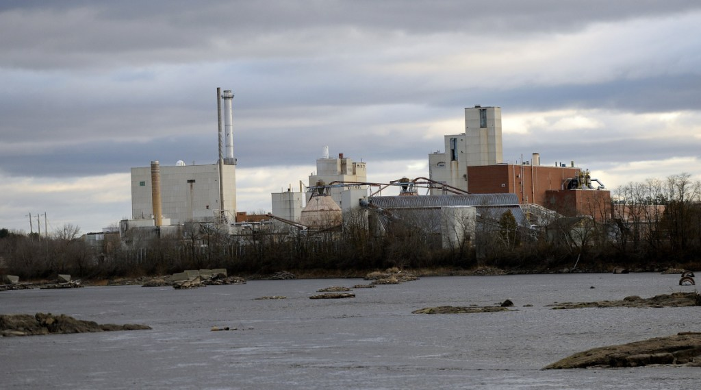 Under its proposal to power UMaine's campus in Orono, winning bidder ConEdison Solutions would produce wood-fired steam and electricity at an abandoned paper mill in nearby Old Town, above.