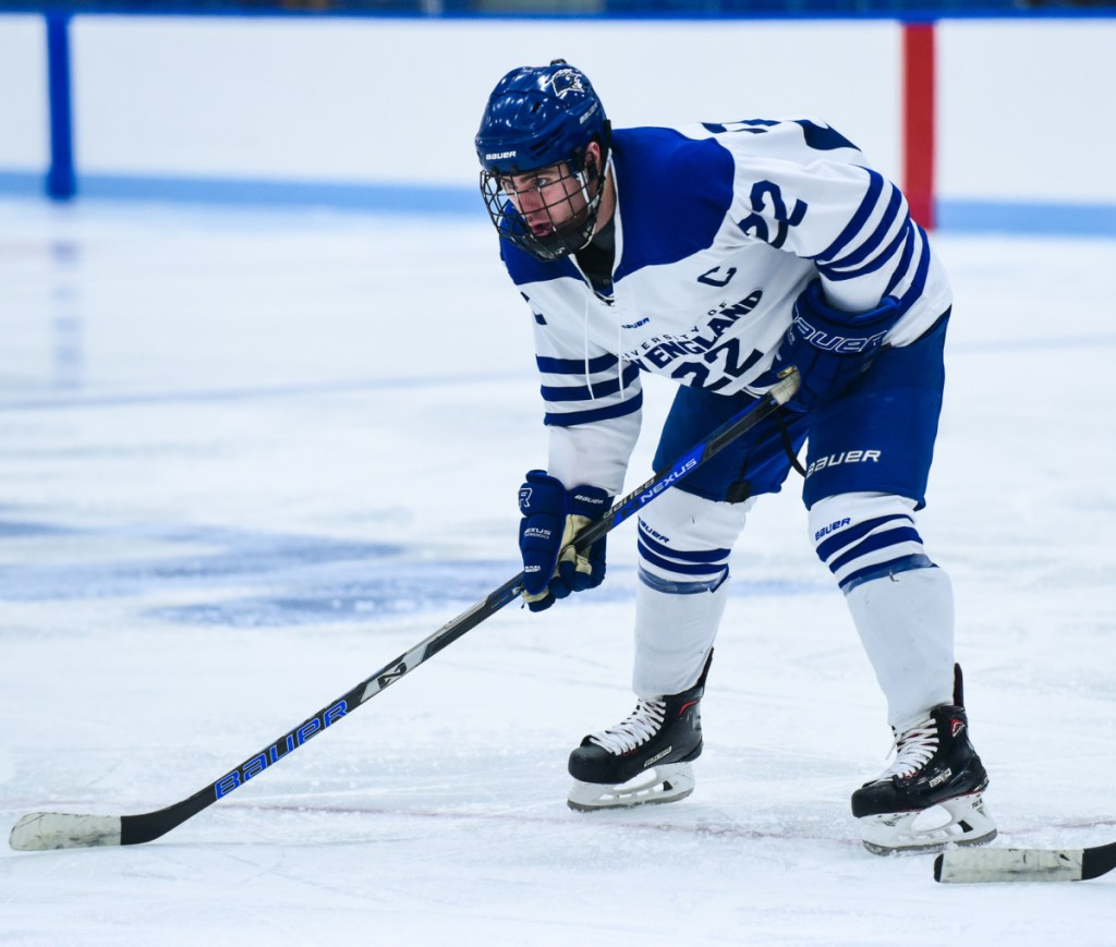 Brady Fleurent of Biddeford doesn't just score, he scores a lot. As in, the national leader in points for a second consecutive season for the University of New England.