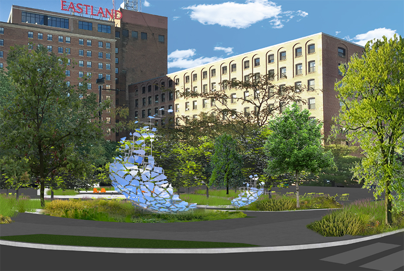 Rendering of Congress Square Park