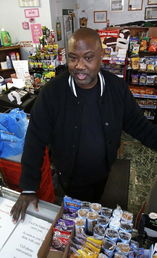 About half of Carl Lewis' customers pay with benefits from the federal Supplemental Nutrition Assistance Program.
