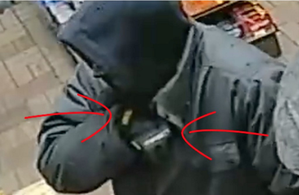 The FBI created a video that points out details of the suspect in a recent string of armed robberies in Greater Portland.