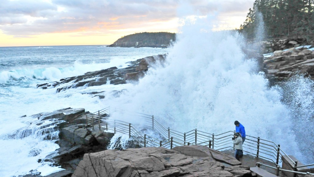 Thunder Hole is one of the features that draw visitors to Acadia National Park in Bar Harbor. The Interior Department is reconsidering its proposal for steep fee increases for national parks.