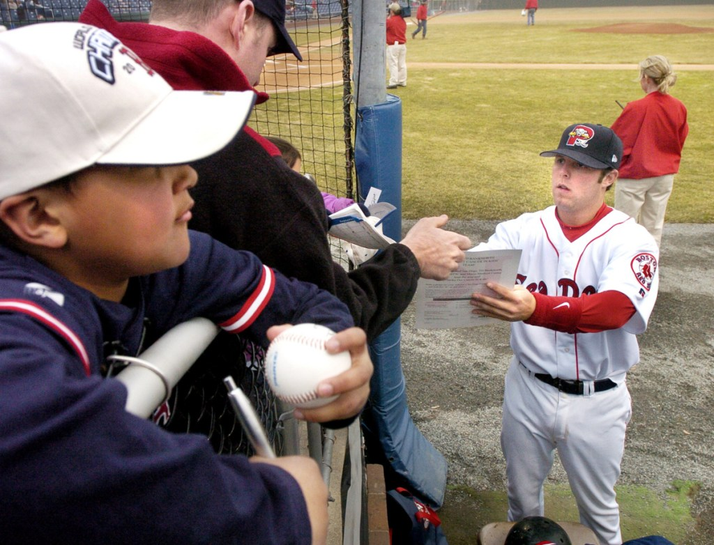 Dustin Pedroia played his first full professional season with the Sea Dogs in 2005. In 2006 he was called up to Boston in September, won the AL Rookie of the Year award in 2007 and was voted the AL MVP in 2008.