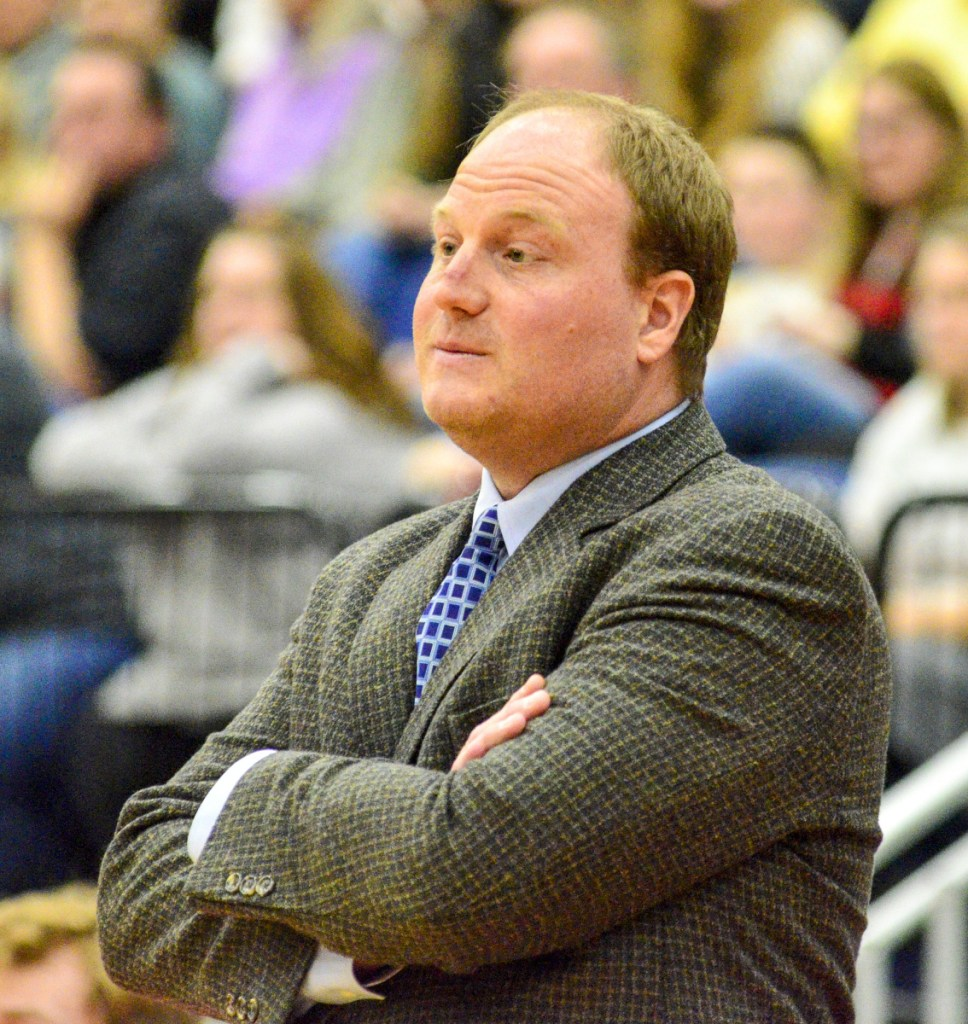 Hall-Dale coach Chris Ranslow is the Kennebec Journal Boys Basketball Coach of the Year.