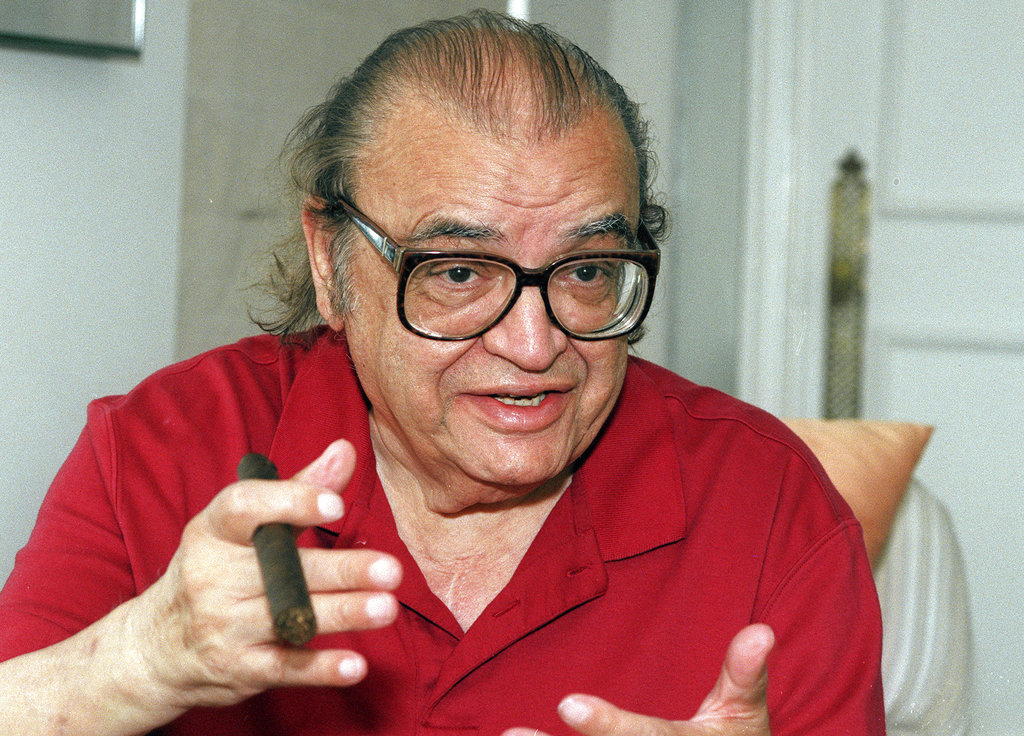 Author Mario Puzo talks during an ireporter in New York in 1996.