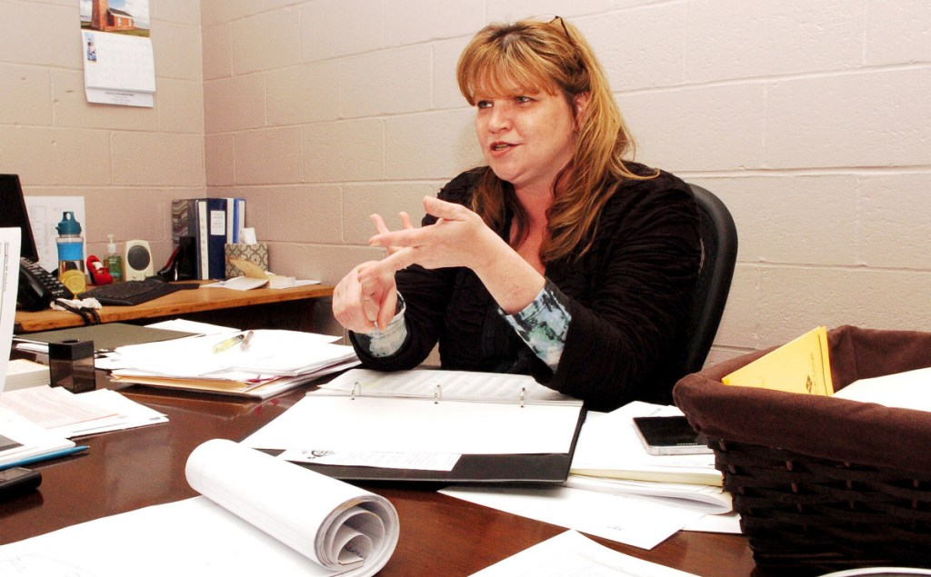 Fairfield Town Manager Michelle Flewelling, pictured here in May 2016, said Thursday that most increases in the town budget reflect increases in insurance and utility costs, which are out of the town's control; but the town was able to increase its revenue this year by $110,000 through excise taxes and investment income, which was not something it had done in past years.
