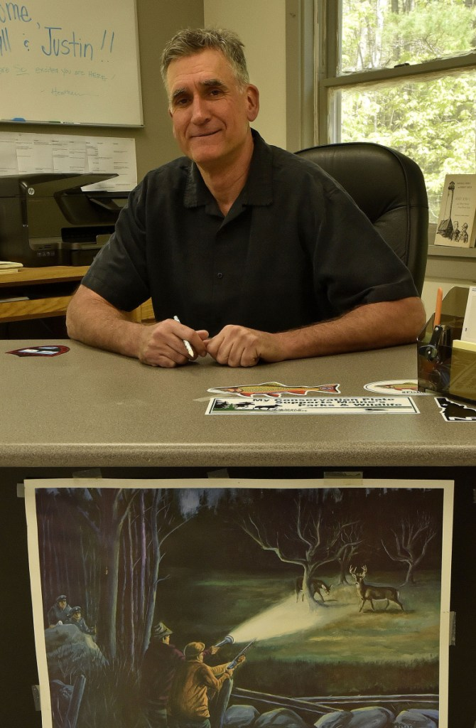 Lake George Regional Park chief administrator Darryll White sits in the park headquarters office Wednesday in Canaan. White has a master's degree in student personnel and 20 years' experience in recreation and tourism.