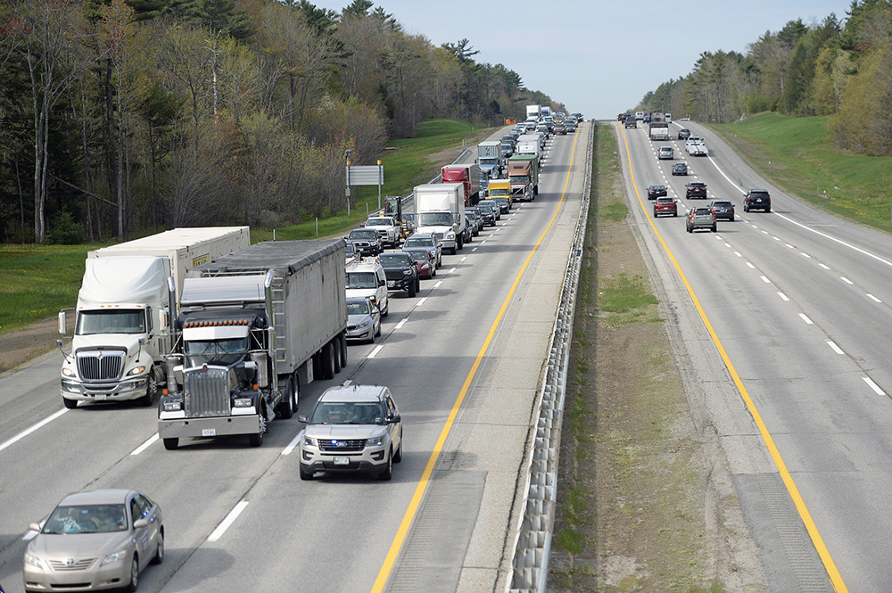 It was bumper to bumper traffic for miles on the  Maine Turnpike northbound after an accident at Mile 40  in Scarborough Tuesday morning.