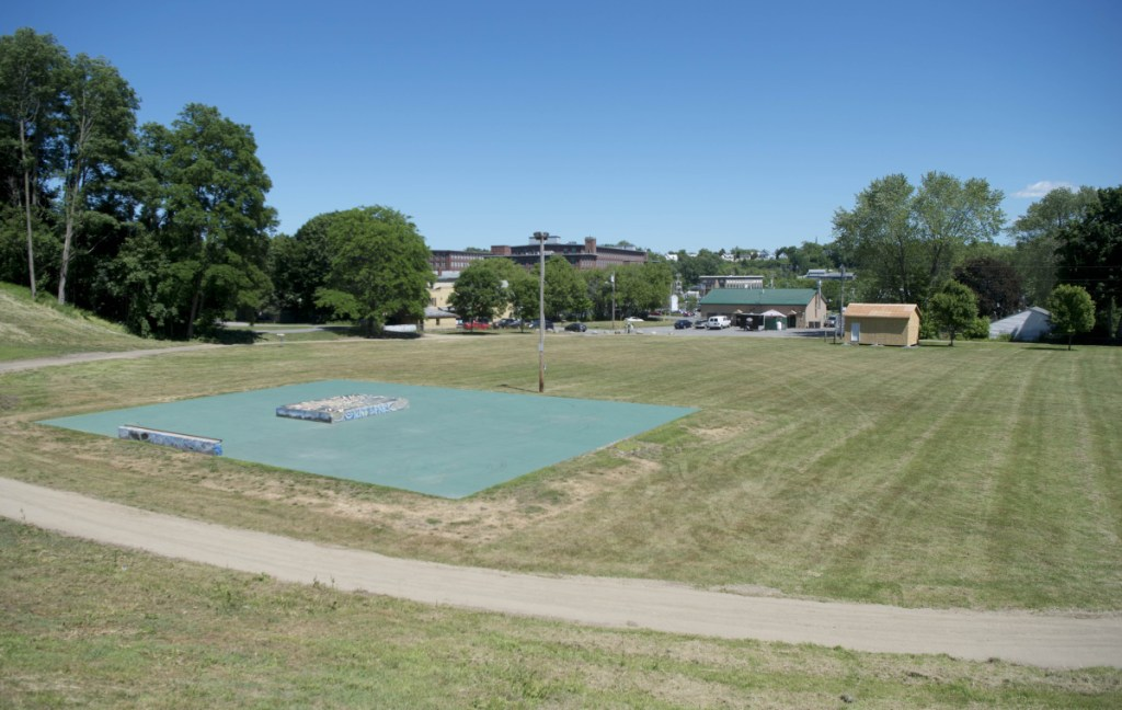 The Green Street Park in the south end of Waterville, pictured Friday, is undergoing a series of renovations.